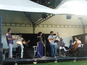 Grupo CARCOARCO e o Duo Ana Salvagni e Paulo Freire juntos.